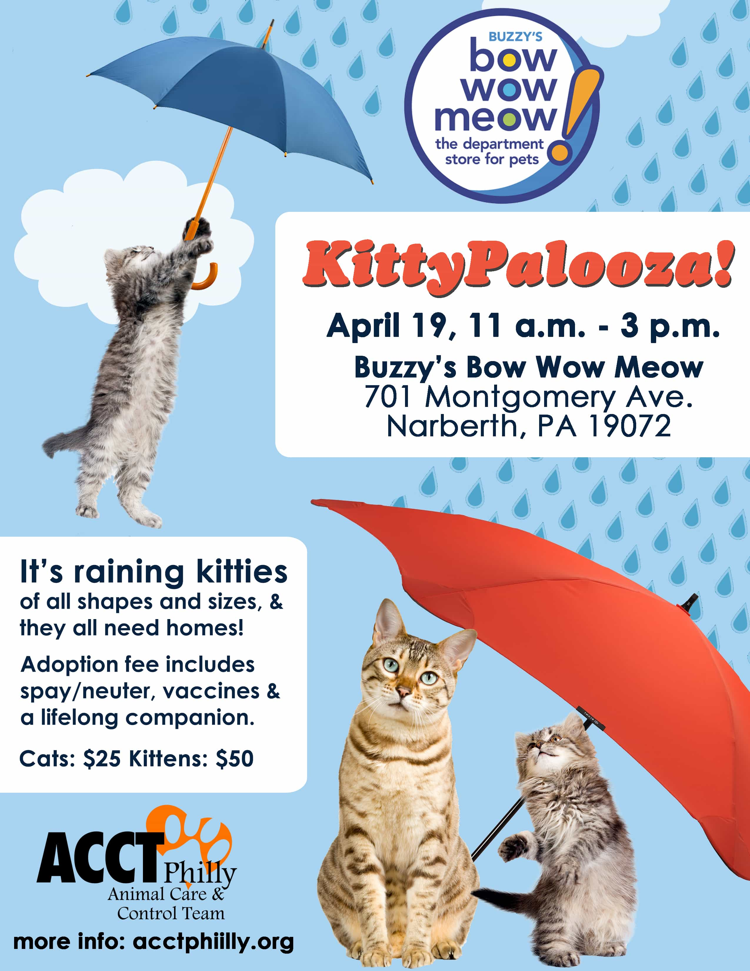 April Adoption Events And Prices Acct Philly