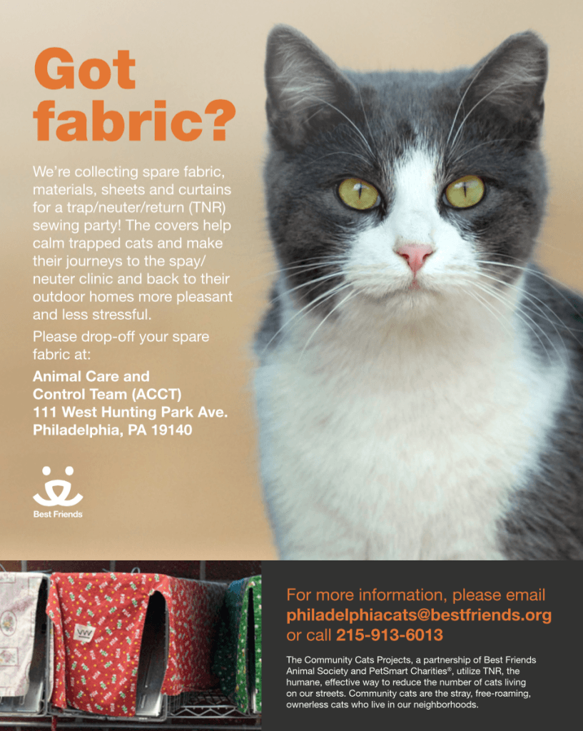 Trap Cover Sewing Event flyer