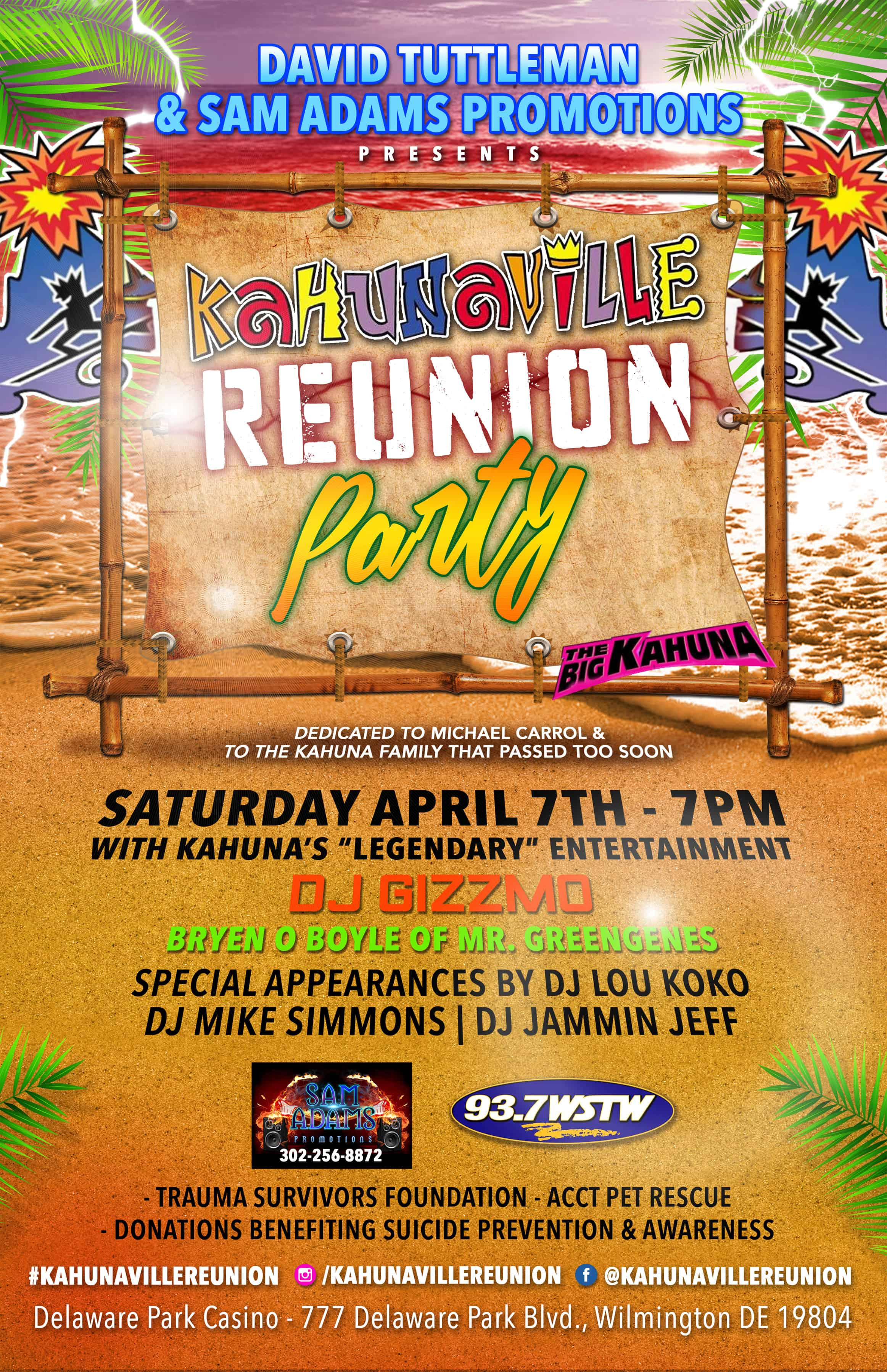 Benefit Event – Kahunaville Reunion Party | ACCT Philly