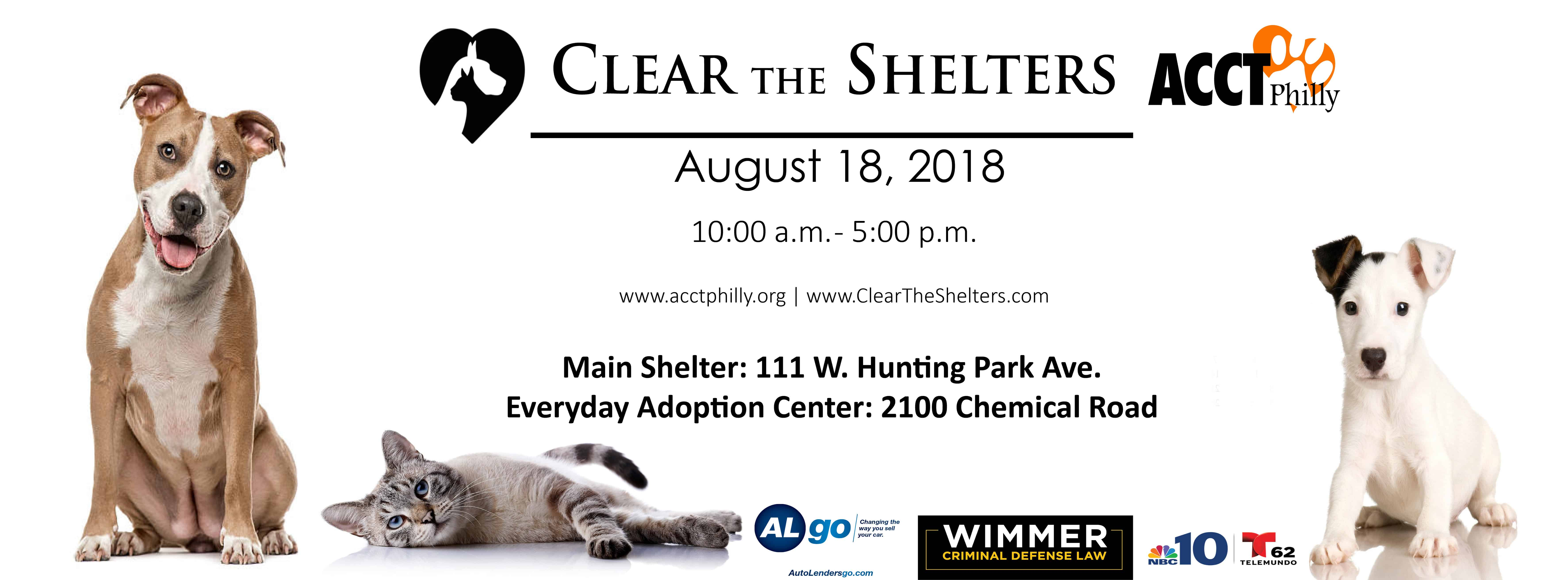 Clear The Shelters 2018   ACCT Philly