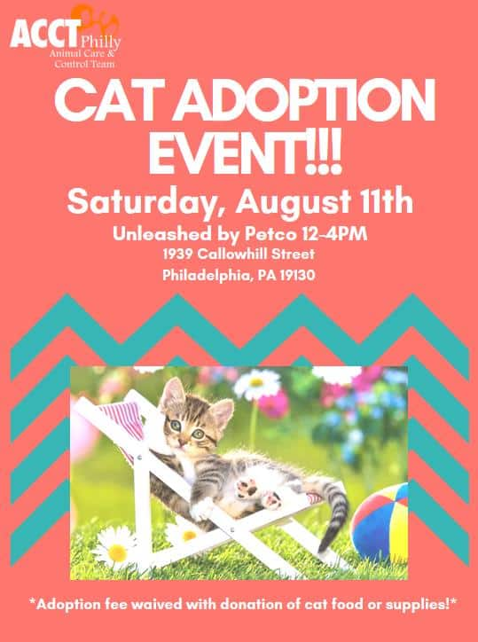 Unleashed by Petco – Cat Adoption Event | ACCT Philly